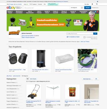 Durch den Globus-Shop bei eBay wird die Reichweite spürbar erhöht.    Foto: eBay