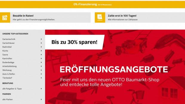 Die Otto-Gruppe einen Online-Baumarkt unter www.otto-baumarkt.de eröffnet.