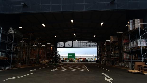 Der Baustoffhandel der Baywa bewegte sich 2018 auf dem Niveau von 2017. Das Bild zeigt den neuen Baywa-Standort in Großwallstadt.