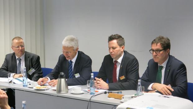 Dr. Hans Joachim Brinkjans (ZVG), Hartmut Weimann (ZVG), Stephan Patzer (IVG), Johannes Welsch (IVG)