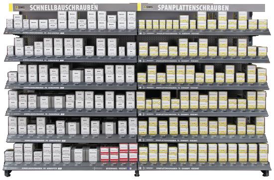 Kundenleitsysteme weisen den Weg zum gesuchten Produkt.