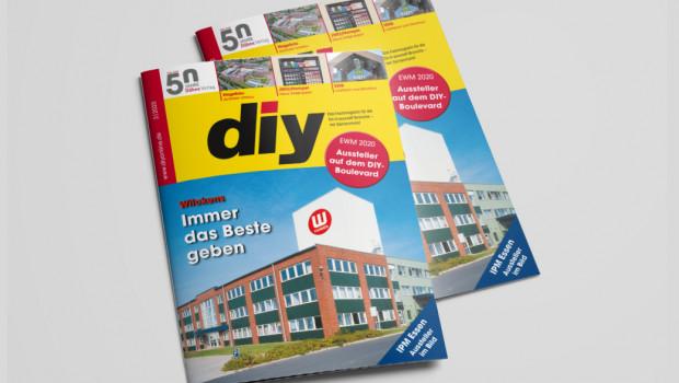 Neu erschienen ist das März-Heft des Fachmagazins diy - Es ist erneut randvoll mit spannenden Informationen.
