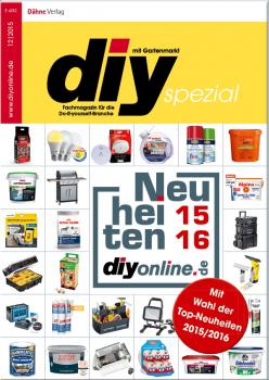 Neue Produkte und Innovationen auf 36 Seiten: Das diy-spezial Neuheiten 2015/16.