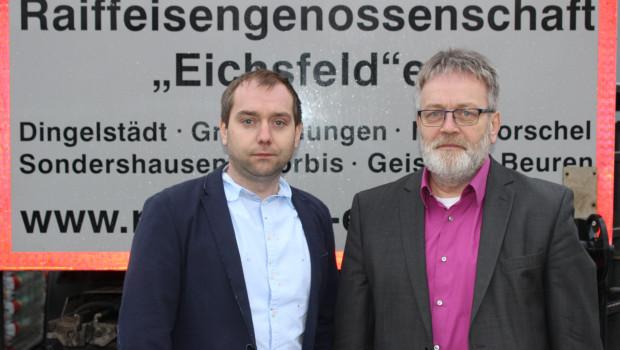 Geschäftsführer der Raiffeisengenossenschaft Eichsfeld sind Winfried (r.) und Johannes Gunkel.