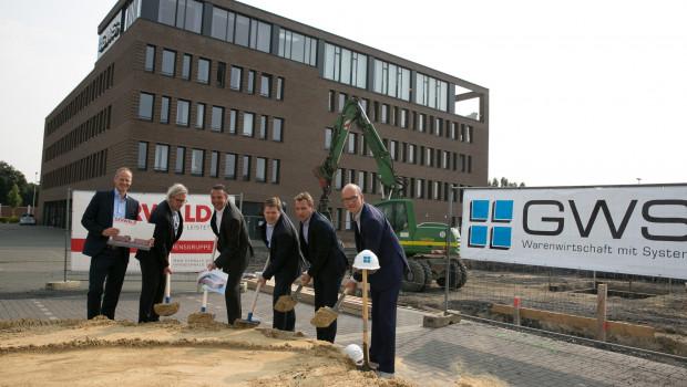 Spatenstich für neuen Büro-Trakt der GWS.
