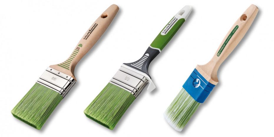 Pinsel der Familie LasurSTAR sind in verschiedenen Ausführungen, für Profis und Heimwerker, erhältlich.