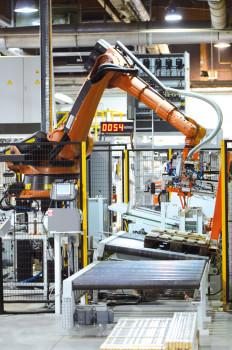 Unter anderem in sechs neue Verpackungsroboter hat Neuhofer Holz investiert.