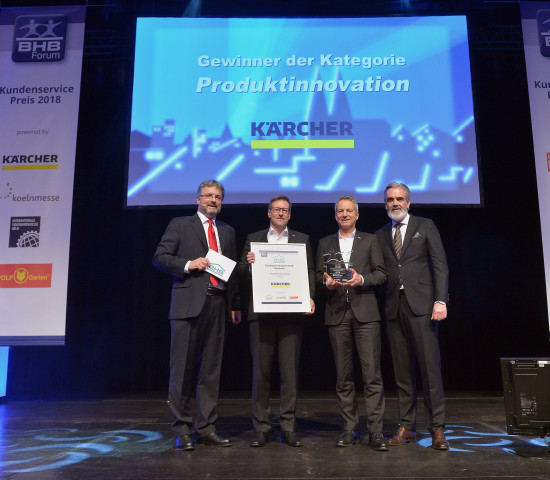 Der Kundenservicepreis für die Produktinnovation ging an Kärcher (FCS).
