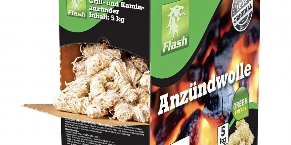 Das Flash-Logo gibt es jetzt auch in Grün –für alle Produkte der ökologischen Linie von Boomex.