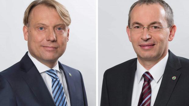 Die neue Doppelspitze des Hagebau Datendienst IT-Services: Andreas Dietrich (links) und Jürgen Schachtschneider. Foto: Hagebau.