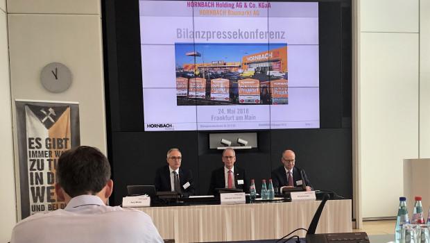 Die Bilanzpressekonferenz von Hornbach fand heute in Frankfurt statt.