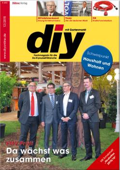 Titelthema der aktuellen diy-Ausgabe ist der Zusammenschluss von EMV-Profi mit dem Baustoffring.