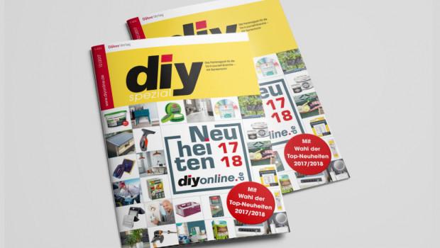 Die Neuheiten 2017/18 sind als Supplement zur Dezemberausgabe des Fachmagazins diy erschienen.