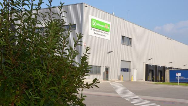 3.800 m² des neuen Logistikcenters stehen als Lager für den Onlineshop raiffeisenmarkt24.de zur Verfügung.