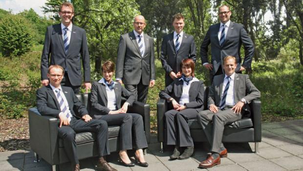 Das Eurobaustoff-Team aus dem Bereich Holz freut sich über gute Zahlen der ersten drei Quartale