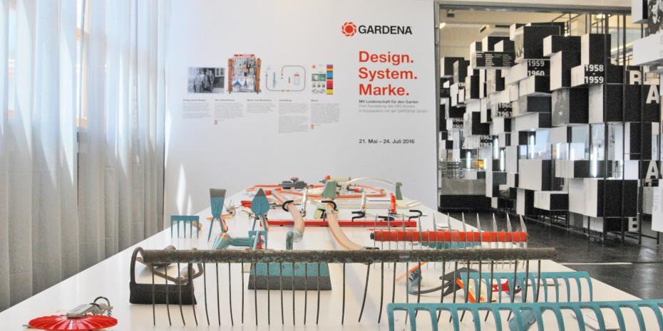 """Die Ausstellung """"GARDENA – Design. System. Marke."""""""