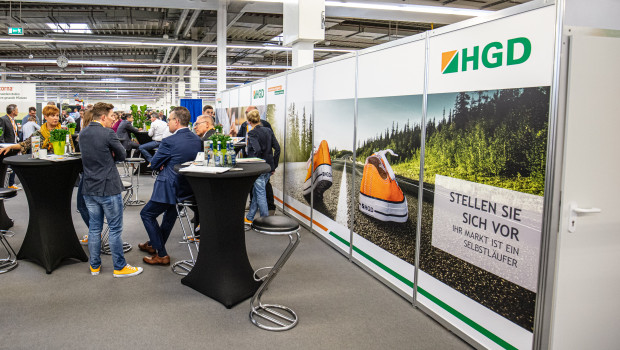 Auf der Ordermesse präsentierte die 2018 gegründete HGD ihre Dienstleistungen für kleinere Raiffeisen-Märkte.
