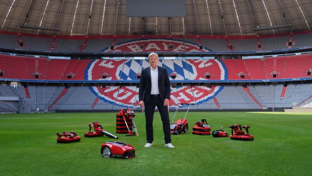 Oliver Kahn steht für die Marketingkampagne der Einhell Germany AG