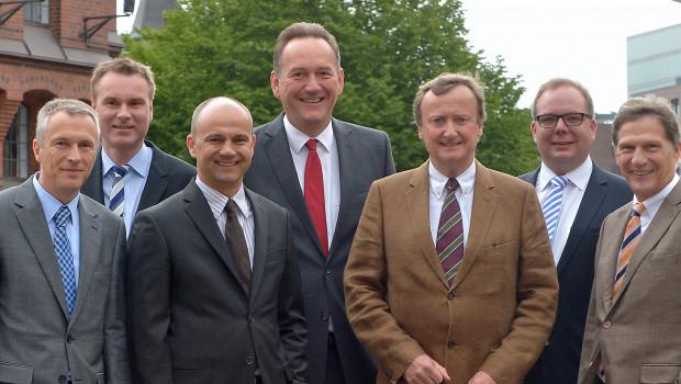 Der Vorstand des Herstellerverbands Haus & Garten ist wieder komplett (v. l.): Friedrich Beier, Ulrich Köhler, Uwe Schröder, Peter Stechmann, Dietrich Alberts, Claudius Voigt und Hans-Walter Hustadt.