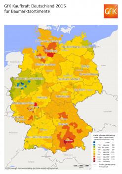 Das regionale Potenzial für Baumarktsortimente ist groß, so die GfK.