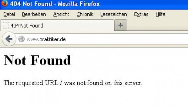 Kein Anschluss ... unter dieser Domain. Der Praktiker-Onlineshop ist elektronisch Geschichte.