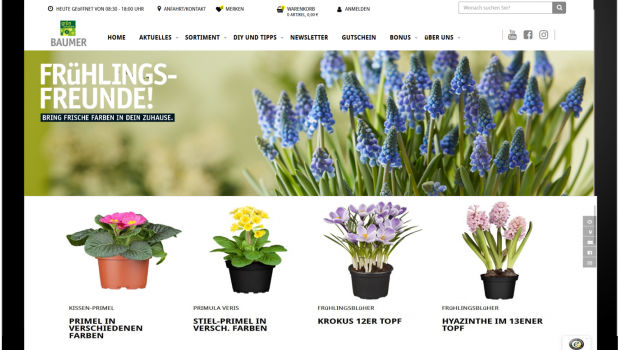 Die Artikel aus dem Click & Collect-Shop der Sagaflor sollen ein der Saison angepasstes Produktangebot mit Pflanzen und Hartwareabdecken.