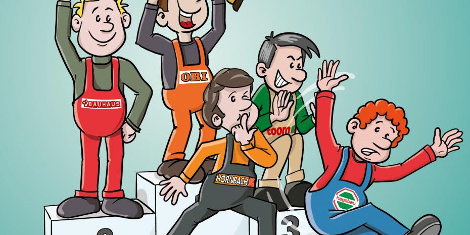 Platz da: Toom stößt den Hagebau-Einzelhandel vom Siegertreppchen.