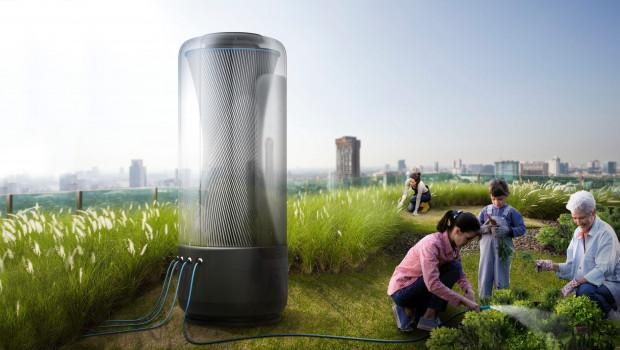 Wasser aus Luft gewinnen? So könnte es einmal aussehen.