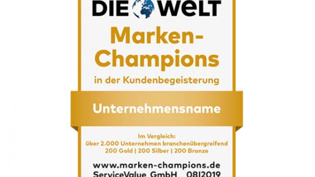 """Erneut gekürt: die """"Marken-Champions"""" von Service Value. [Bild: Service Value]"""