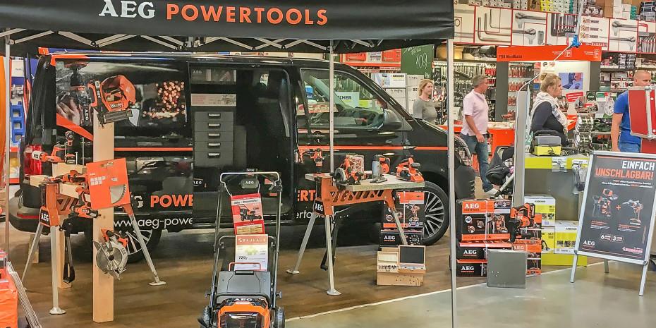 AEG Powertools, Verkaufsunterstützung und Verkäuferschulungen direkt vor Ort, Foto: AEG Powertools