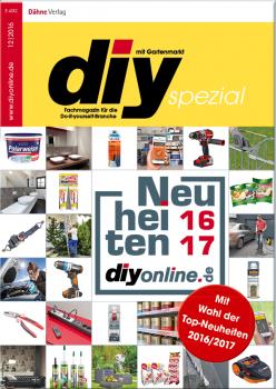 """Auf 36 Seiten präsentiert das Supplement """"Top-Neuheiten 2016/17"""" Produktinnovationen aus den Kategorien DIY, Bau und Garten/Heimtier."""