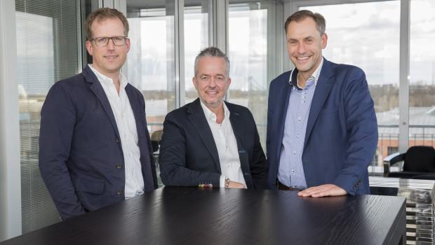Das Fressnapf-Trio (von links): Folkert Schultz, Torsten Toeller und Dr. Hans-Jörg Gidlewitz.