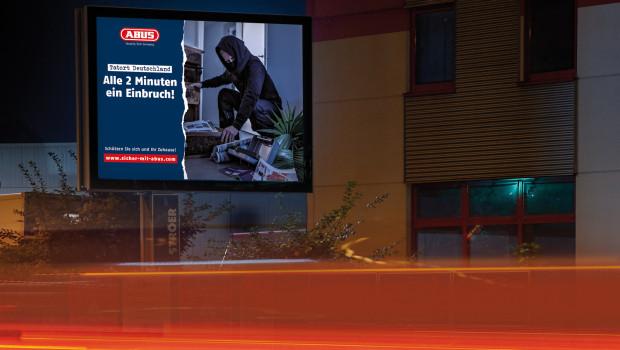 Mit einer großangelegten Werbeoffensive will Abus ein Bewusstsein dafür schaffen, wie hoch das Risiko ist, Opfer eines Einbruchs zu werden.