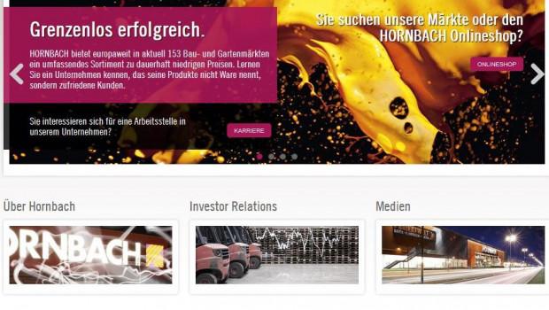 Alle Gruppen-Websites von Hornbach erscheinen jetzt in einem neuen Design.