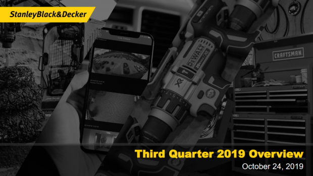 Der Umsatz des US-amerikanischen Konzerns Stanley Black & Decker stieg im dritten Quartal 2019 um vier Prozent. [Bild: Stanley Black & Decker]