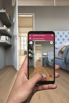 Der neue Haro Room Visualizer in der App. [Bild: Haro]