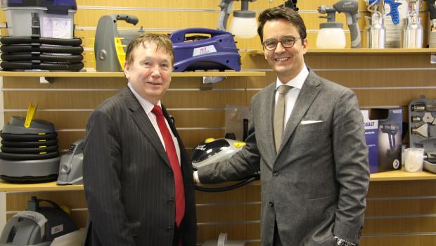 Erfolgreiche Erwerbung: Thorsten Koch (Wagner, r.) und Julian Baseley (Earlex).