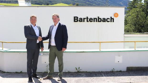 Eglo-Vorstandschef Rene Tiefenbacher traf sich mit Christian Bartenbach.