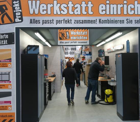 """Hier zeigt sich: Hornbach will ein """"Projektbaumarkt"""" sein."""