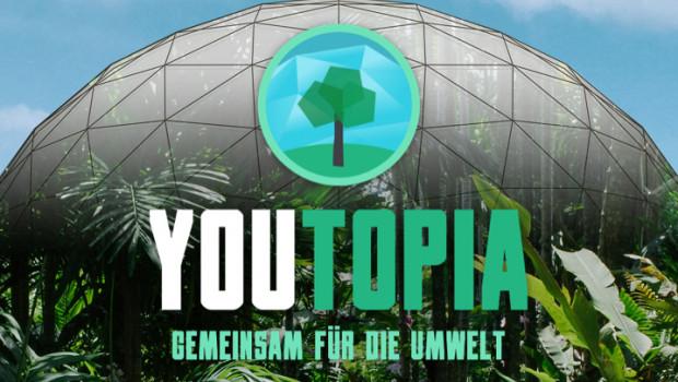 """Fünf Tage, Top-Youtuber und eine riesige Kuppel: das ist """"YouTopia: Gemeinsam für die Umwelt"""". Als Partner unterstützt toom das Live-Event."""