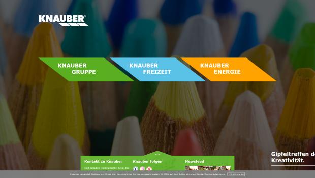 Die Unternehmensgruppe Knauber präsentiert sich mit ihrer Website unter www.knauber.de neu.
