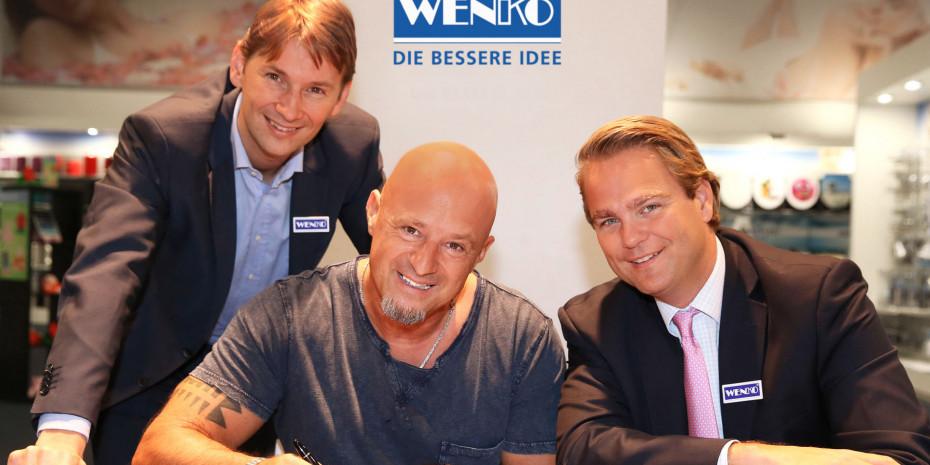 Wenko, v. l.: Philip Köllner (Geschäftsführung Wenko), Detlef Steves, Niklas Köllner (Geschäftsführung Wenko)