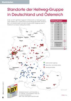 Standorte der Hellweg-Gruppe in Deutschland und Österreich. [Stand: 30. Juni 2017]