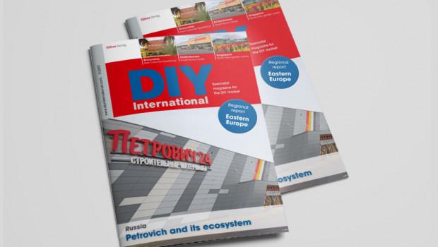Die aktuelle Ausgabe der Fachzeitschrift DIY International ist jetzt herausgekommen.
