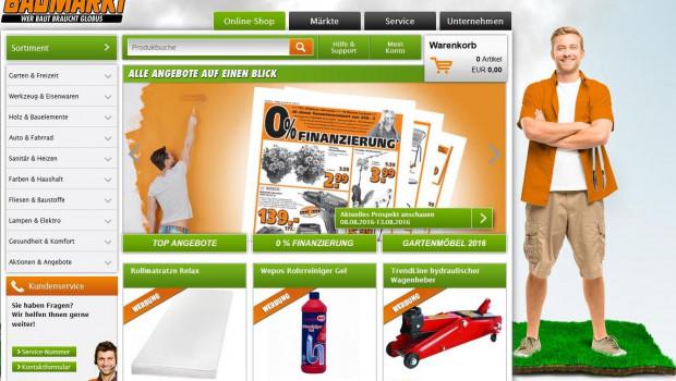 Der Globus Baumarkt Online-Shop macht Umsatz wie ein Baumarktstandort.