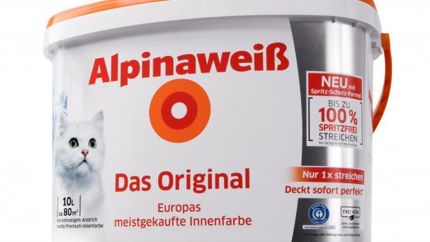 Alpina-Farben, Alpinaweiß Das Original, neue Rezeptur