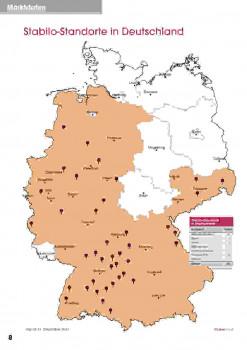 Stabilo-Standorte in Deutschland. [Stand: 31.12.17]