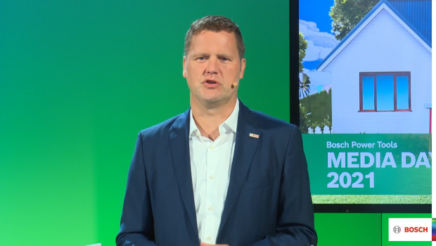 Stephan Hoelzl, Executive Vice President undMitglied der Geschäftsführung von Bosch Power Tools, nahm zur aktuellen Lage auf den Rohstoff- und Logistikmärkten Stellung.