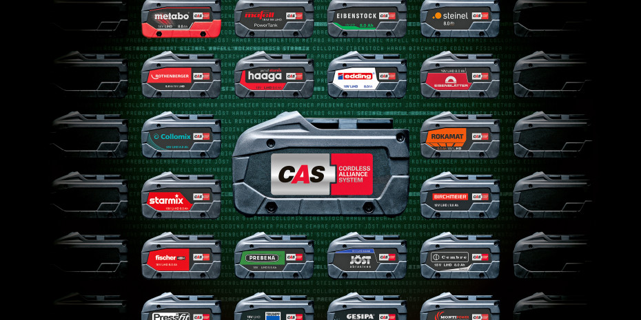 Ein Akkupack für zahlreiche Produkte unterschiedlicher Hersteller – das ist die Idee hinter dem Cordless Alliance System.