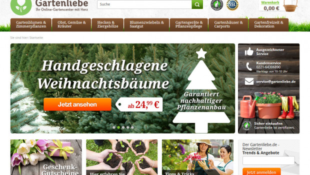 Gartenliebe.de, das Online-Gartencenter von Toom Baumarkt, ist jetzt gestartet.